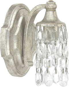 Capital Lighting Blakely 1-Light Sconce Antique Silver 8521ASCR