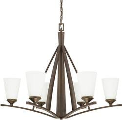 Capital Lighting Boden 6-Light Chandelier Burnished Bronze 412361BB324