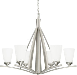 Capital Lighting Boden 6-Light Chandelier Brushed Nickel 412361BN324