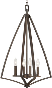 Capital Lighting Boden 4-Light Foyer Burnished Bronze 512341BB