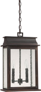 "12""w Bolton 2-Light Outdoor Pendant Light Old Bronze"