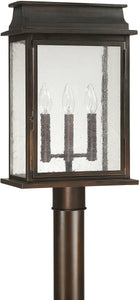 Capital Lighting Bolton 3-Light Outdoor Post Lantern Old Bronze 9665OB