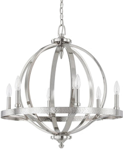 Capital Lighting Brayden 6-Light Pendant Polished Nickel 4906PN