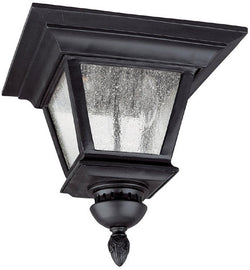 "12""w Brookwood 3-Light Outdoor Fixture Black"