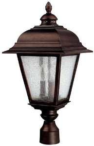 "24""h Brookwood 3-Light Outdoor Fixture Burnished Bronze"