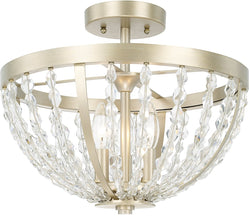 Capital Lighting Camille 3-Light Semi-Flush Soft Gold 210731SF