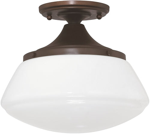 Capital Lighting Capital Ceilings 1-Light Ceiling Light Burnished Bronze 3537BB129