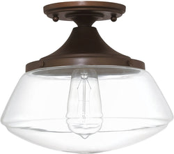 Capital Lighting Capital Ceilings 1-Light Ceiling Light Burnished Bronze 3537BB134