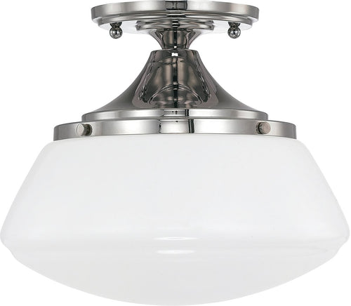 Capital Lighting Capital Ceilings 1-Light Ceiling Light Polished Nickel 3537PN129