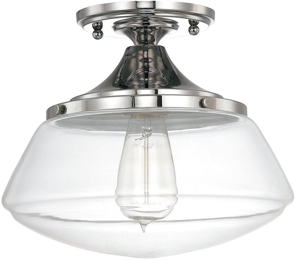 "10""W Capital Ceilings 1-Light Ceiling Light Polished Nickel"