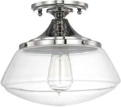 Capital Ceilings 1-Light Ceiling Light Polished Nickel