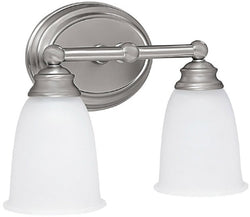 Capital Lighting Capital Vanities 2-Light Bath Vanity Matte Nickel 1082MN132