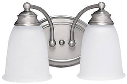 Capital Lighting Capital Vanities 2-Light Bath Vanity Matte Nickel 1087MN132