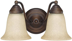 Capital Lighting Capital Vanities 2-Light Bath Vanity Burnished Bronze 1362BB297