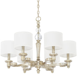 Carlyle 6-Light Chandelier Gilded Silver