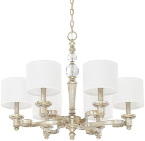 "28""W Carlyle 6-Light Chandelier Gilded Silver"
