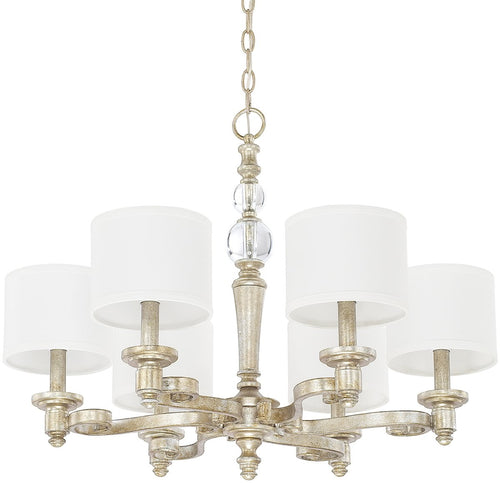 Capital Lighting Carlyle 6-Light Chandelier Gilded Silver 411761GS654