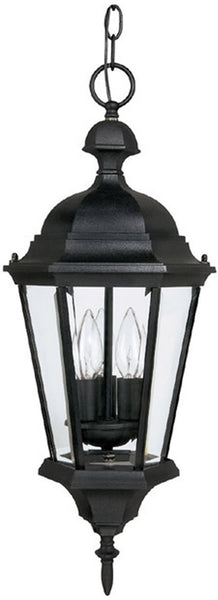 Capital Lighting Carraige House 3-Light Outdoor Pendant Light Black 9724BK
