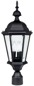 "24""h Carriage House 3-Light Outdoor Fixture Black"