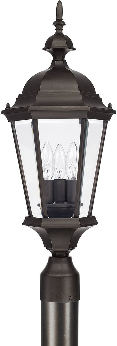"24""H Carriage House 3-Light Post Lantern Old Bronze"