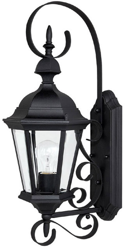 23 H Carriage House 1 Light Outdoor Fixture Black