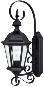 Capital Lighting Carriage House 1-Light Outdoor Fixture Black 9721BK