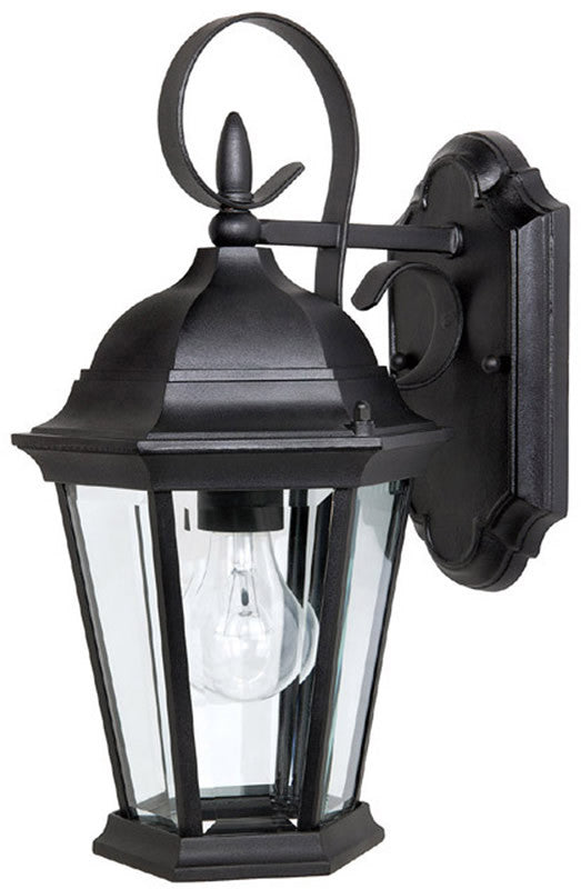 "16""h Carriage House 1-Light Outdoor Fixture Black"