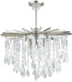 Capital Lighting Carrington 6-Light Chandelier Polished Nickel 7023PNCR
