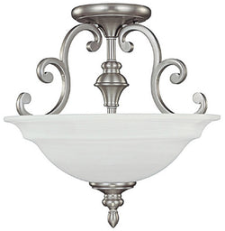 Capital Lighting Chandler 3-Light Semi-Flush Fixtures Matte Nickel 3071MN