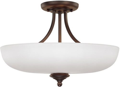 Capital Lighting Chapman 5-Light Semi-Flush Fixture Burnished Bronze 3947BBSW