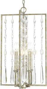 Capital Lighting Charleston 4-Light Foyer Silver and Gold Leaf 313342SG