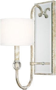 Capital Lighting Charleston 1-Light Sconce Silver and Gold Leaf 613311SG654
