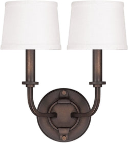 Capital Lighting Chastain 2-Light Wall Sconce Tobacco 1717TB546
