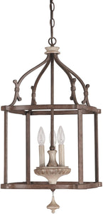 Capital Lighting Chateau 3-Light Foyer Chandelier French Oak 9472FO