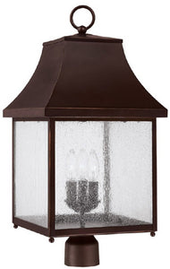 "26""h Collins Hill 3-Light Outdoor Post Lantern New Bronze"
