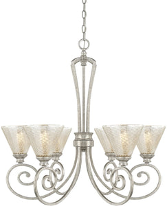 Capital Lighting Corrigan 6-Light Chandelier Antique Silver 410961AS315