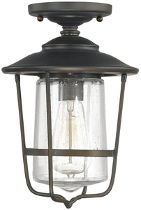 Capital Lighting Creekside 1-Light Outdoor Ceiling Old Bronze 9607OB