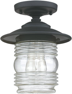 Capital Lighting Creekside 1-Light Outdoor Ceiling Black 9677BK