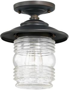 Capital Lighting Creekside 1-Light Outdoor Ceiling Old Bronze 9677OB