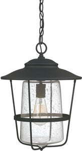 Capital Lighting Creekside 1-Light Hanging Lantern Black 9604BK