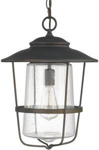 Capital Lighting Creekside 1-Light Outdoor Hanging Lantern Old Bronze 9604OB