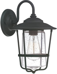 Capital Lighting Creekside 1-Light Wall Lantern Black 9601BK