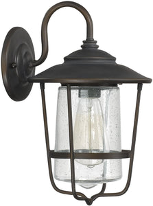 Capital Lighting Creekside 1-Light Outdoor Wall Lantern Old Bronze 9601OB