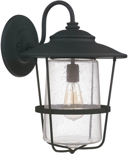 Capital Lighting Creekside 1-Light Wall Lantern Black 9603BK