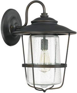 Capital Lighting Creekside 1-Light Outdoor Wall Lantern Old Bronze 9603OB