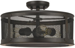 Capital Lighting Dylan 3-Light Outdoor Semi-Flush Old Bronze 9617OB