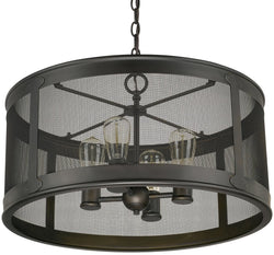 Capital Lighting Dylan 4-Light Outdoor Pendant - Damp Rated Old Bronze 9618OB