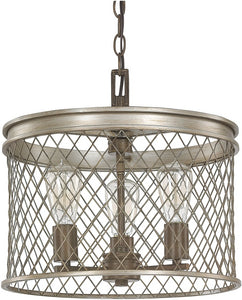 Capital Lighting Eastman 3-Light Pendant Silver and Bronze 4883SZ