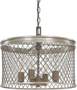 Capital Lighting Eastman 4-Light Pendant Silver and Bronze 4884SZ