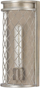 Eastman 1-Light Sconce Silver and Bronze